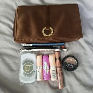 Makeup Bundle W Bvlgari Bag Lipstick, Lash, Brow